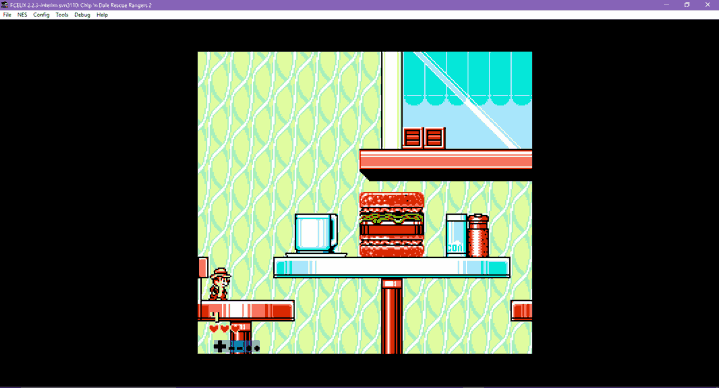 NES game Chip 'n Dale Rescue Rangers 2 on FCEUX