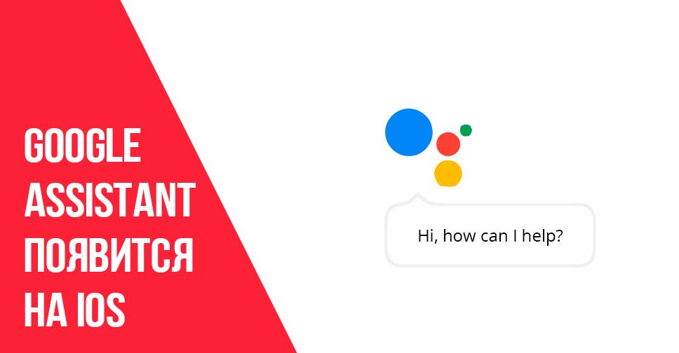 Google Assistant появится на iOS.